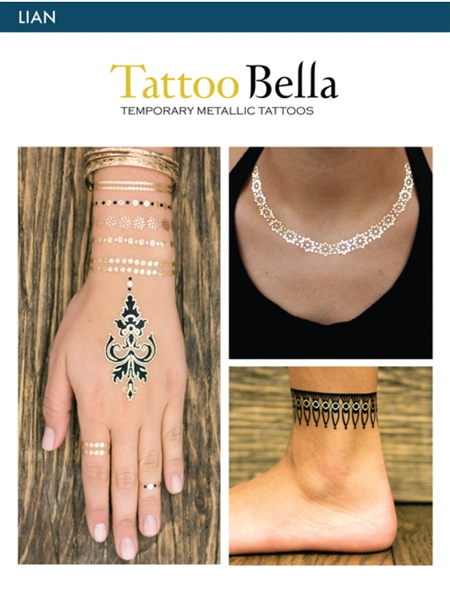 Tattoo Bella Temporary Metallic Tattoos - Lian Collection