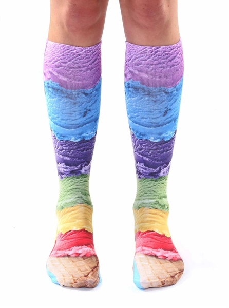 Living Royal Ice Cream Knee High Socks