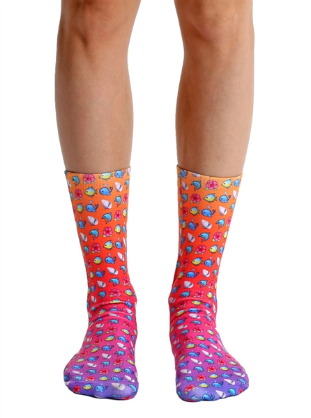 Living Royal Beach Emoji Crew Socks
