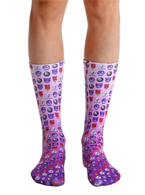 Living Royal Wild Child Emoji Crew Socks