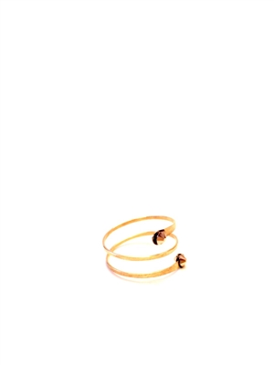 Seasonal Whispers - Wraplet 14K Gold Ring w/Gold Swarovski crystals