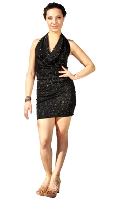 Britney Sequins Ruffle dress