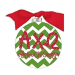Alpha Chi Omega Chevron Glass Ornament