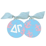 Delta Gamma Anchor Glass Ornament