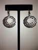 Scroll Earrings - Black