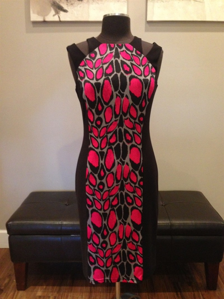 4578a96195c9 Black pink animal print dress.