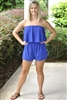 POST PATTERN ROMPER- BLUE