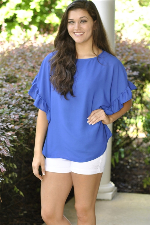 Ooh La La Top- Blue