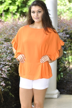 Ooh La La Top- Orange - X-Large