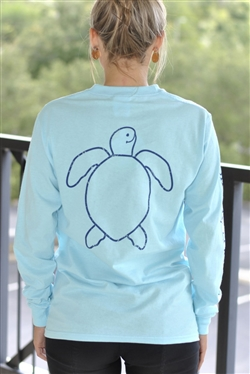 "Simply Southern ""Save the Turtles"" Long-Sleeve Tee - Large"