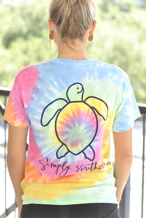 "Simply Southern ""Save the Turtles"" Tie-Dye Tee"
