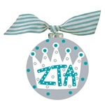 Zeta Tau Alpha Crown Glass Ornament