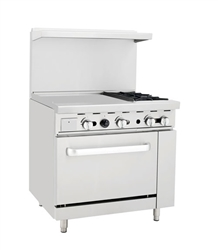 "Atosa Range, 36"" 2 Burners 24"" Griddle Lg Oven - AGR-2B24GR by Atosa ."