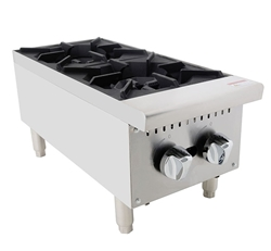"Hot Plate, 12"" Wide Gas 2 Burner - ACHP-2 by Atosa."