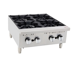 "Hot Plate, 24"" 4 Burner Gas -ACHP-4 by Atosa."