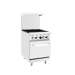 "Range, 24""  4 Burners Sm Oven, Gas - AGR-4B by Atosa."