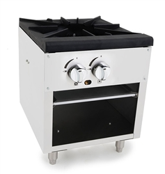 "Commercial Stock Pot Stove, 1 Burner 18"" Gas - ATSP-18-1 by Atosa ."