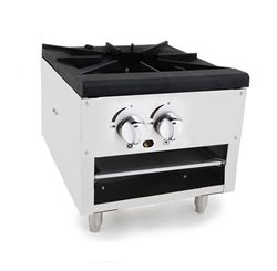 "Commercial Stock Pot Stove, 1 Burner 18"" Short, Gas- ATSP-18-1L by Atosa ."