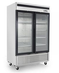 Freezer, Reach-In Glass Door Bottom Mount - 2 Section, MCF8703ES by Atosa.