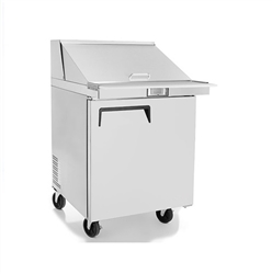 "Refrigerator, Sandwich Prep Table 27"" 8 Pans - MSF8301GR by Atosa."