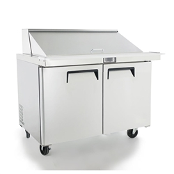 "Refrigerator, Sandwich Table 48"" 12 Pans - MSF8302GR by Atosa."