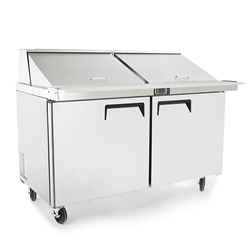 "Refrigerator, Sandwich Table 60"" 16 Pans - MSF8303GR by Atosa."