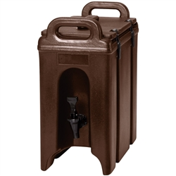 Beverage Dispenser, Insulated Plastic 2 1/2 Gal, Dark Brown- 250LCD131 by Cambro.