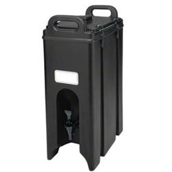 Beverage Dispenser, Insulated Plastic 4 3/4 Gal, Black, 500LCD110 by Cambro.