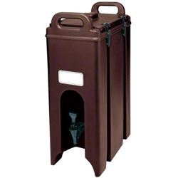 Beverage Dispenser, Insulated Plastic 4 3/4 Gal, Dark Brown, 500LCD131 by Cambro.