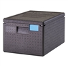 Food Pan GoBox, Insulated Transport Black- EPP180SW110 by Cambro.