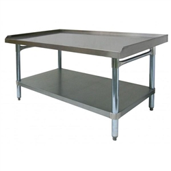 "Equipment Stand, Stainless Steel, 30"" x 48"", CCES-3048 by California Cooking."