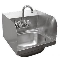 Sink, Hand - Wall Mount With Side Splashes, CCHS-1615SSG by California Cooking.