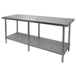 "Worktable, Economy, Stainless Steel, 24"" x 72"", CCWT-2472"