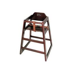 High Chair, Walnut Finish - Assembled, CHH-104A by California Cooking.