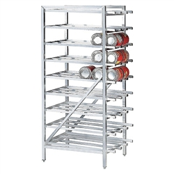 Can Storage Rack, Stationary Holds Up To 162 # 10 Cans, CR-162 by California Cooking.