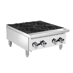 "Hot Plate, 24"" Wide Gas 2 Burner - PHP-24-4 by CCK"