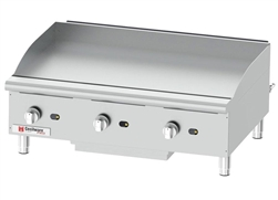 "Griddle, 36"" Countertop Manual Control - Nat./LP Gas, GCP36 by Cecilware."
