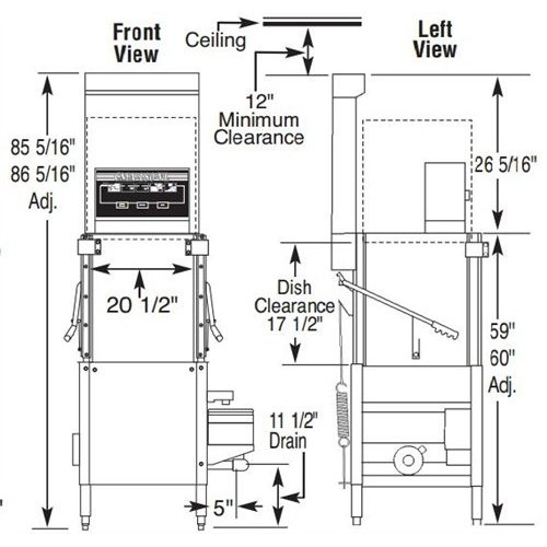 cma dishwasher ventless upright door type high temp 208 240v rh chefsfirst com Maytag Dishwasher Wiring-Diagram Dishwasher Wiring at the Wall