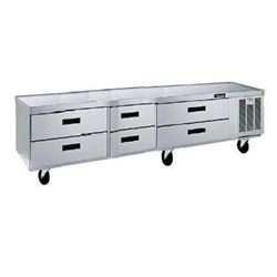 "Refrigerator, Chef Base 87"", 6 Drawers - 3 Section, F2987C by Delfield."