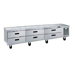 "Refrigerator, Chef Base 99"", 6 Drawers - 3 Section, F2999C by Delfield."