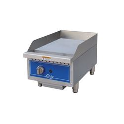 "Griddle, 15"" Manual Control - Gas, GG15G by Globe ."