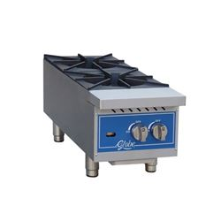 "Hotplate, 12"" Wide 2 Burner - Gas, GHP12G by Globe ."