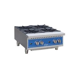 "Hotplate, 24"" Wide 4 Burner - Gas, GHP24G by Globe ."
