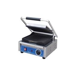 ChefsFirst offers equipment & supplies for restaurants, commercial kitchens, foodservice & manufacturing facilities. Check out our low price for thisPanini Grill, Small Single Grooved Top And Bottom - 120V, GPG10 by Globe .