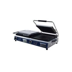 Panini Grill, Large Double Grooved Top And Bottom - 208/240V, GPGDUE14D by Globe .