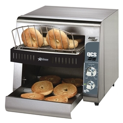 Toaster, Conveyor Type, 500 Bagel Halves Per Hour - 120V, QCS1-500B by Star Manufacturing.