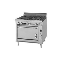 "Range, 36"", HEAVY DUTY 6 Burners, 1 Standard Oven - L.P. Gas, 136-5-LPG by Montague."