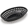 Basket, Fast Food Oval Plastic - Black, 1074BK by TableCraft.