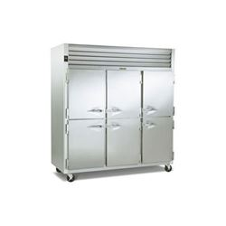 Refrigerator, Reach-In Solid Half Doors- 3 Section, G30000 by Traulsen.