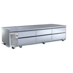 "Refrigerator, Chef Base 96"" - 3 Section, TE096HT by Traulsen."